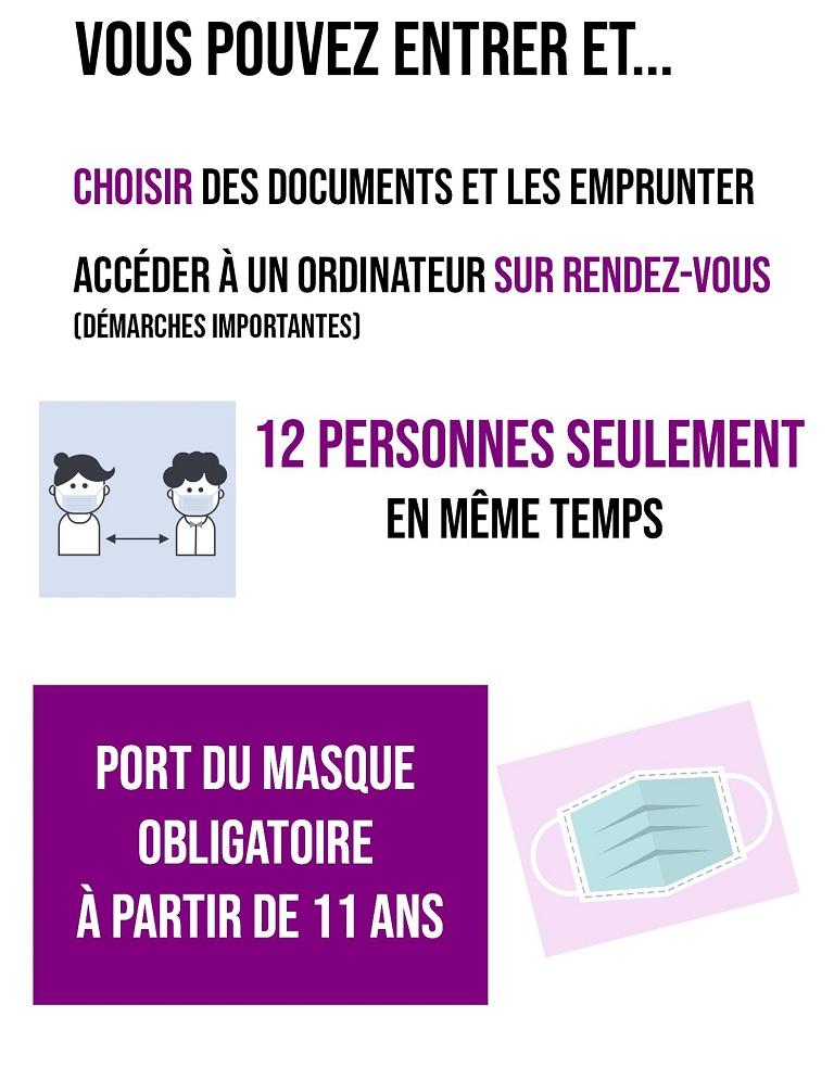 Réouverture 1er décembre 12 personnes max port du masque obligatoire
